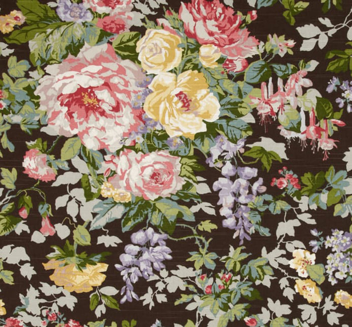 Hardwick Heath CL Ebony Drapery Upholstery Fabric by P Kaufmann