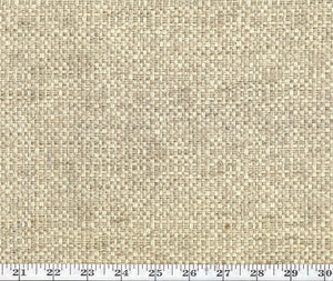 Hemp Texture  CL Cream Drapery Upholstery Fabric by American Silk Mills