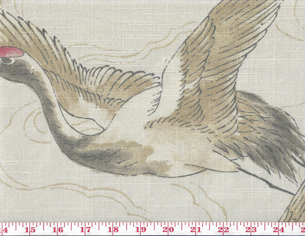 Hokkaido CL Parchment Drapery Upholstery Fabric by Braemore Textiles
