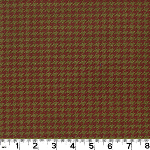 Houndstooth CL Terre Cotta Upholstery Fabric by Roth & Tompkins