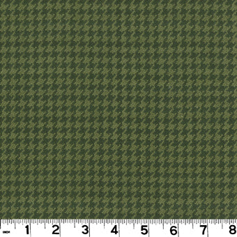 Houndstooth CL Evergreen Upholstery Fabric by Roth & Thompkins