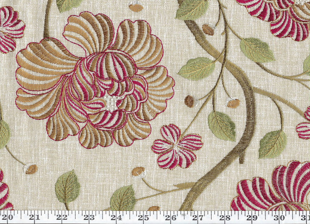 In Bloom CL Sumac Drapery Upholstery Fabric by P Kaufmann