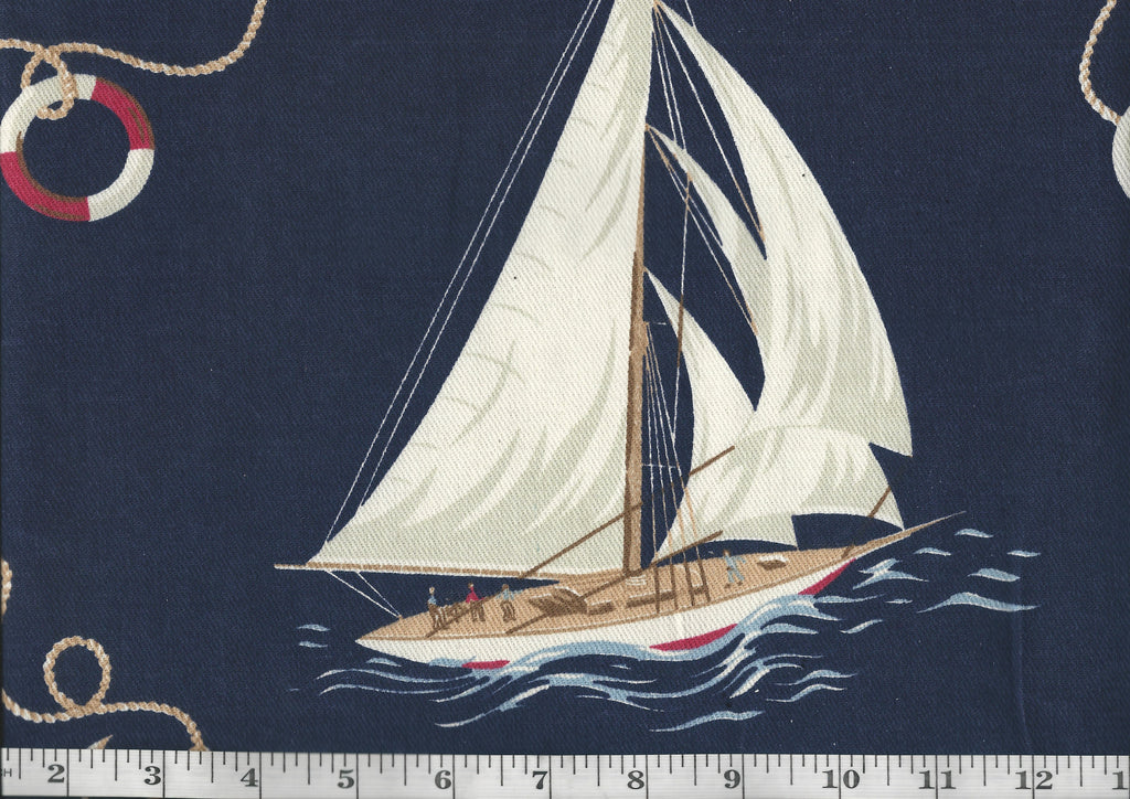 Inlet View CL Navy Drapery Upholstery Fabric by Ralph Lauren