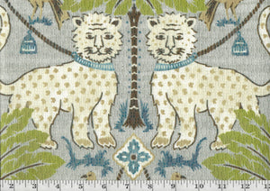 Jaguar CL Porcelain Drapery Upholstery Fabric by David Rothschild