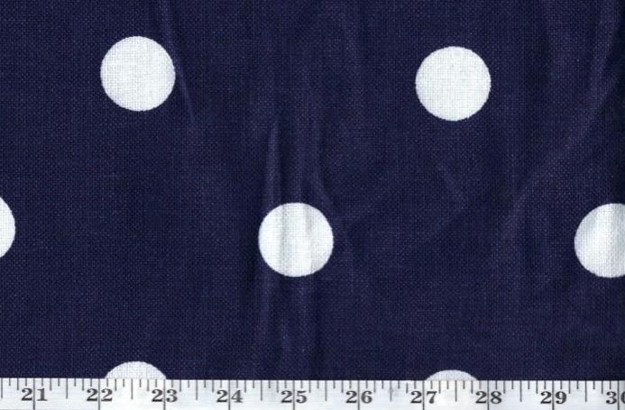 Jeanne Dot CL Navy Drapery Upholstery  Fabric by Ralph Lauren