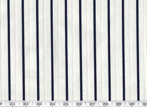Jerome Stripe CL Navy Drapery Upholstery Fabric by Ralph Lauren