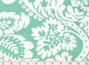 Julian Oxford CL Turquoise Drapery Upholstery Fabric by Braemore Textiles