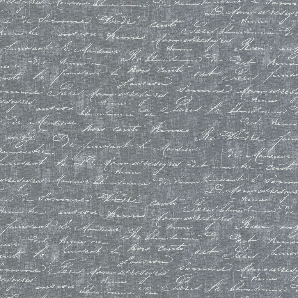 Just Writing CL Charcoal Drapery Upholstery Fabric by PK Lifestyles (Waverly)