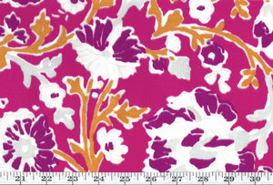 La Alameda Floral CL Fuchsia Outdoor Upholstery Fabric by Ralph Lauren