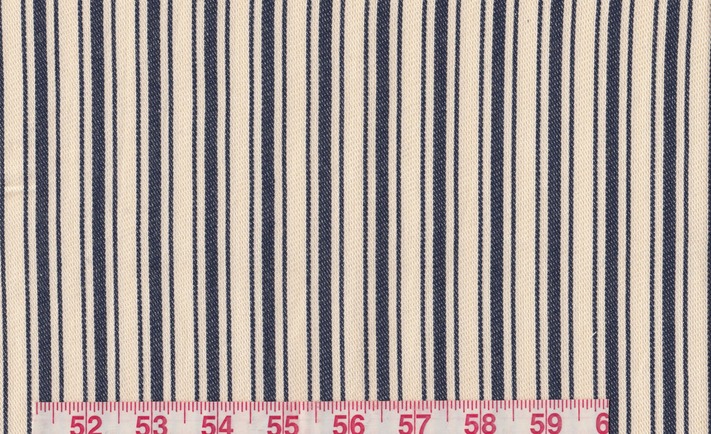 Larkin Ticking CL Raw Denim Drapery Upholstery Fabric by Ralph Lauren