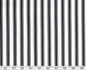 Little Bay Ticking CL Black Outdoor Upholstery Fabric by Ralph Lauren