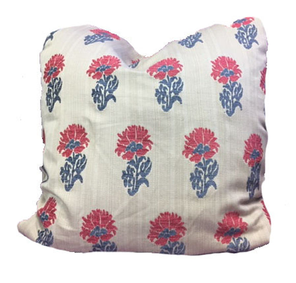 Lucknow CL Rouge Bleu (Hill Brown - Clarence House) Decorative Pillow Cover