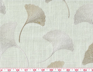 Maidenhair CL Mist Embroidered Drapery Upholstery Fabric by Braemore Textiles