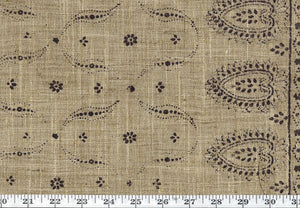 Mandan Paisley CL Hopsack Drapery Upholstery Fabric by Ralph Lauren