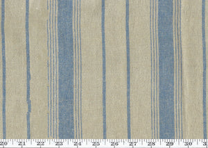 Marigot Ticking CL Antique Blue Drapery Upholstery Fabric by Ralph Lauren