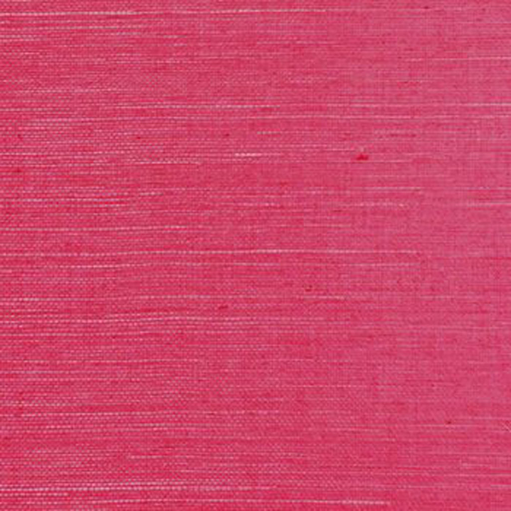 Marin Weave CL Bright Pink Single Roll of Wallpaper by Ralph Lauren