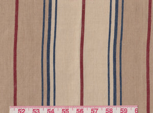 Maritime Linen Ticking CL Riviera Drapery Upholstery Fabric by Ralph Lauren