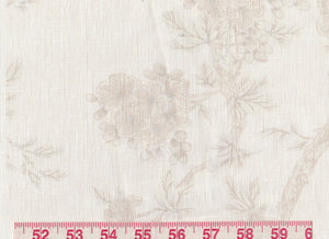 Marlowe Floral Sheer CL Alabaster Drapery Fabric by Ralph Lauren Fabrics