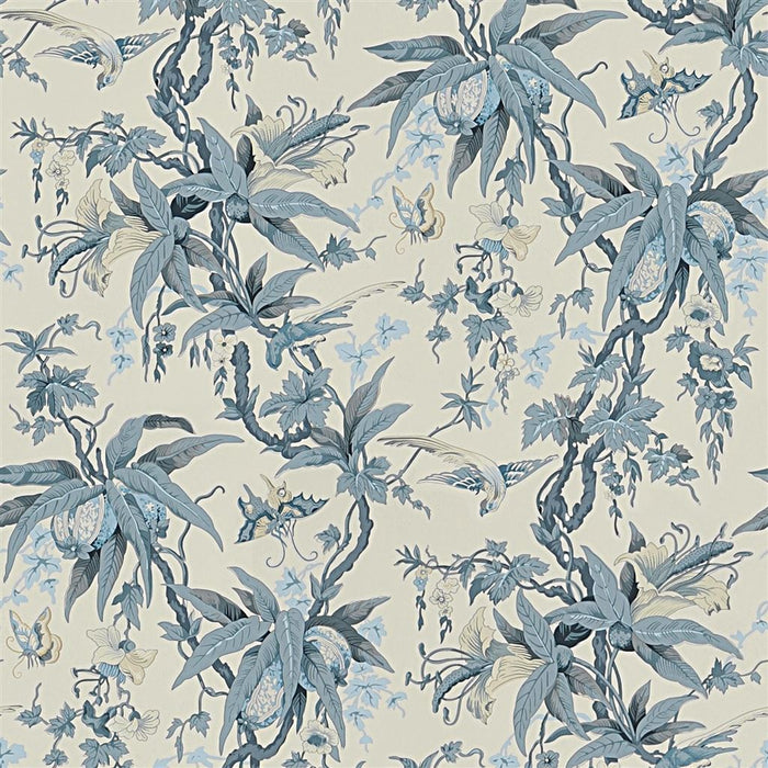 May Day Botanical CL Slate Double Roll of Wallpaper by Ralph Lauren