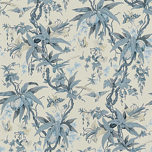May Day Botanical CL Slate Single Roll of Wallpaper by Ralph Lauren