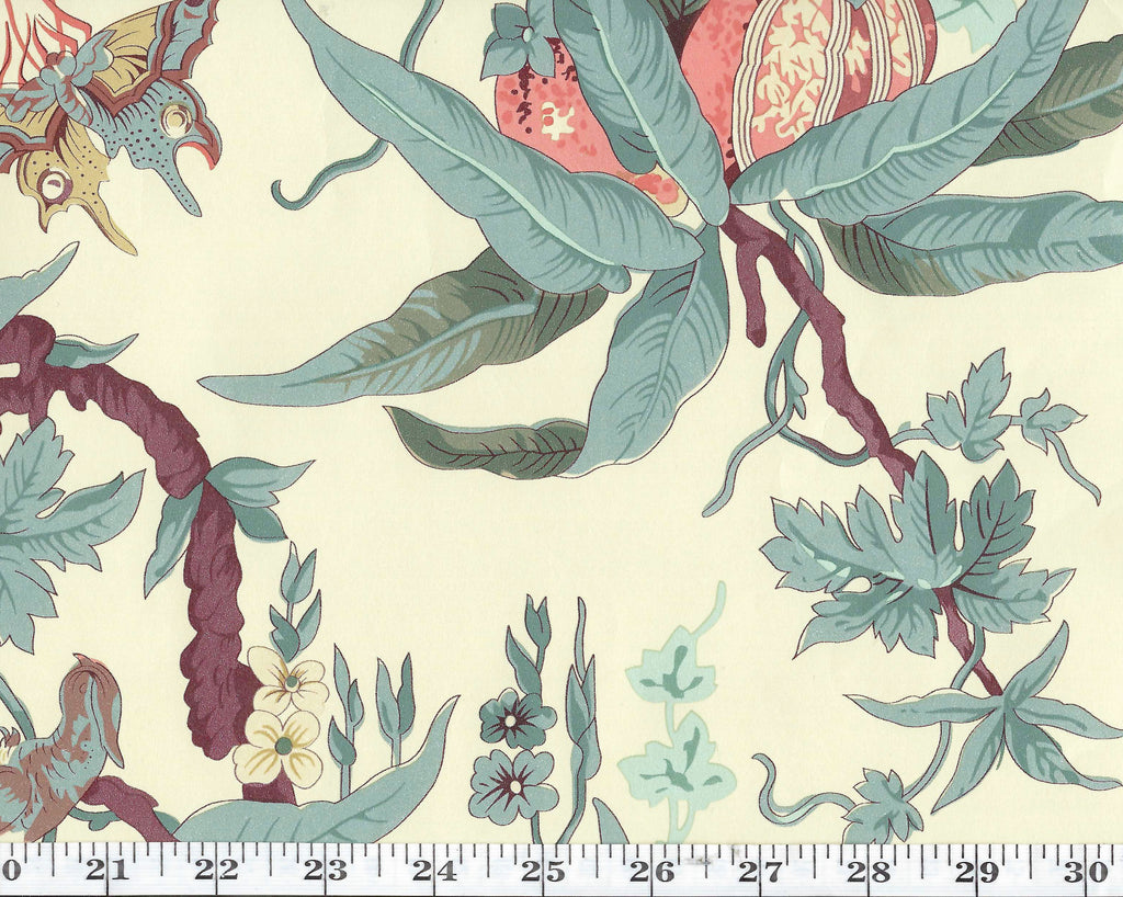 May Day Botanical CL Tea Double Roll of Wallpaper by Ralph Lauren