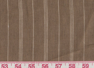 Mead Linen Stripe CL Fawn Drapery Upholstery Fabric by Ralph Lauren