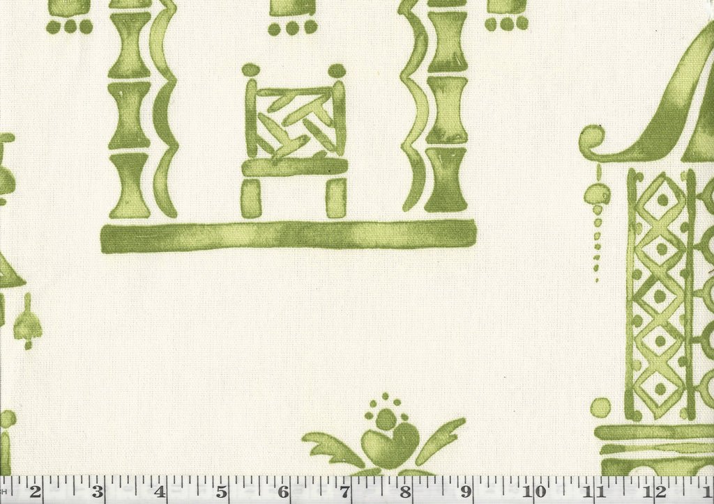 Ming Pagoda CL Mineral Drapery Upholstery Fabric by P Kaufmann