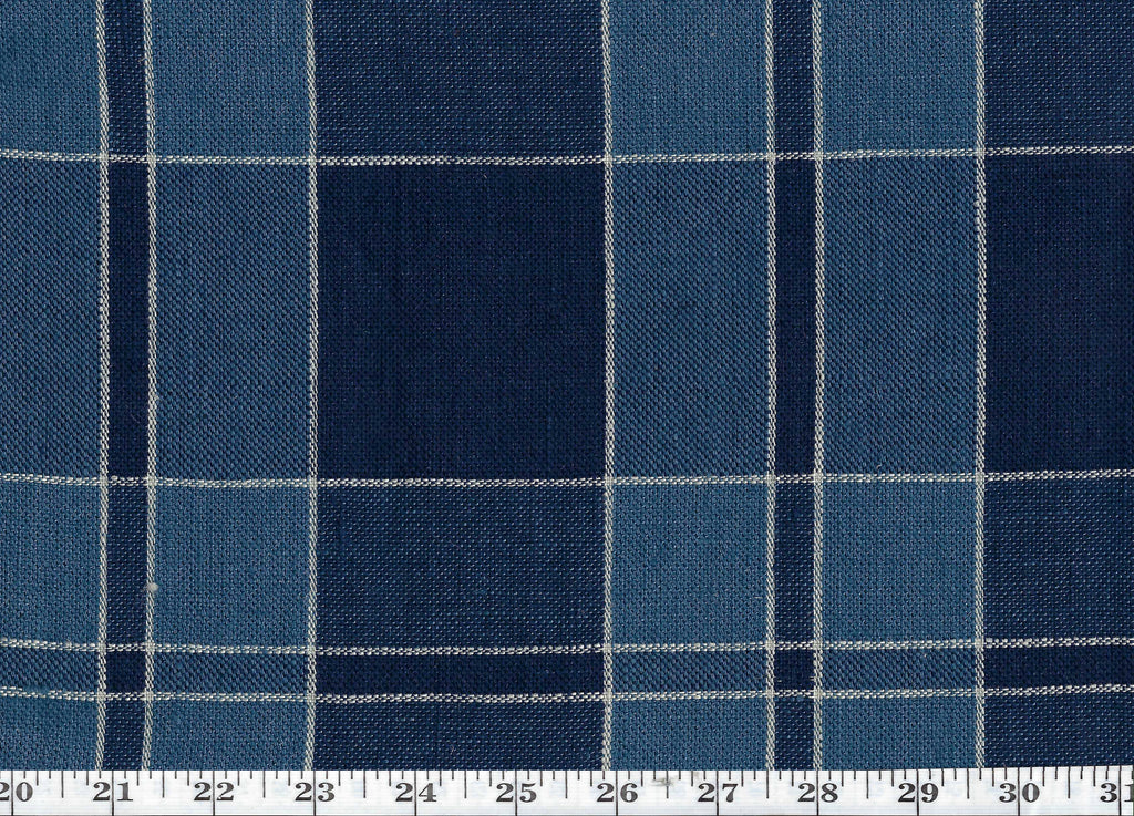 Mission Plaid CL Indigo Drapery Upholstery Fabric by Ralph Lauren