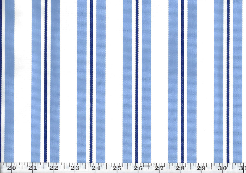 Norris Stripe CL Sky Blue Drapery Upholstery Fabric by Ralph Lauren