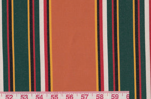 Northport Stripe CL Tangerine Outdoor Upholstery Fabric by Ralph Lauren