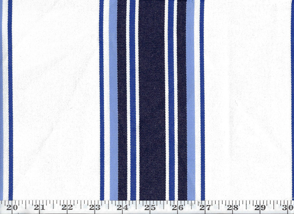 Northport Stripe CL Atlantic Sunbrella Outdoor Upholstery Fabric by Ralph Lauren