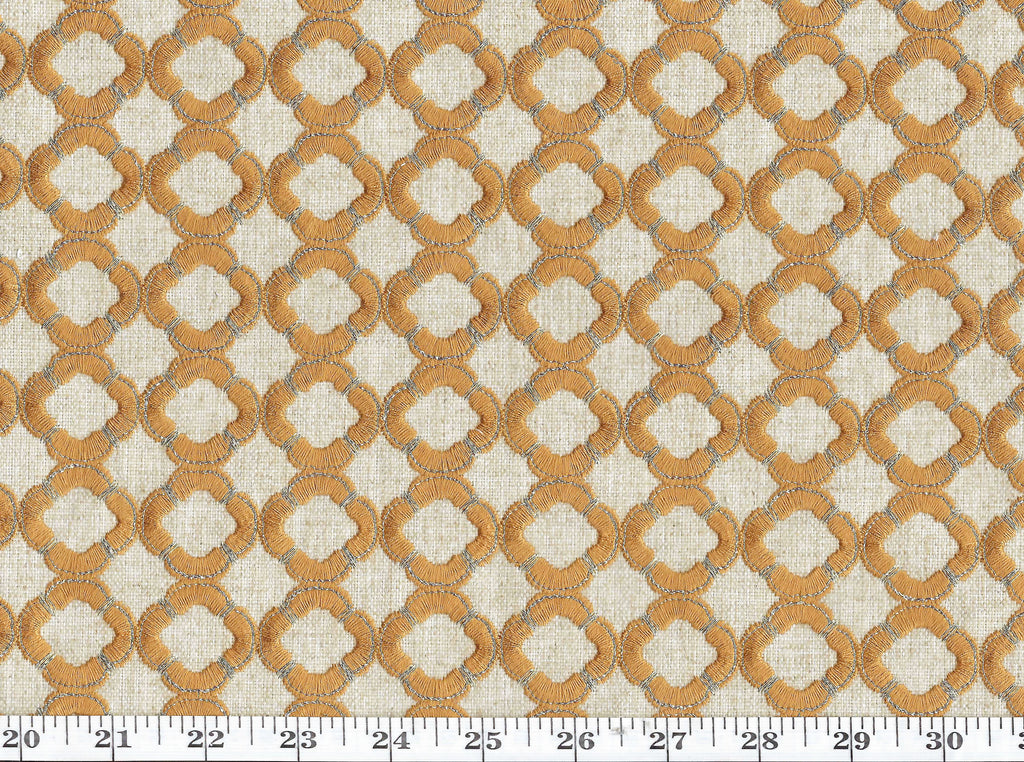 Ornate CL Copper Drapery Upholstery Fabric by P Kaufmann