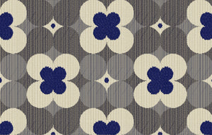 Poppy CL  Midnight  Indoor -  Outdoor Upholstery Fabric by Outdura