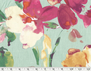 Paint Palette CL Turquoise Drapery Upholstery Fabric by P Kaufmann Fabrics