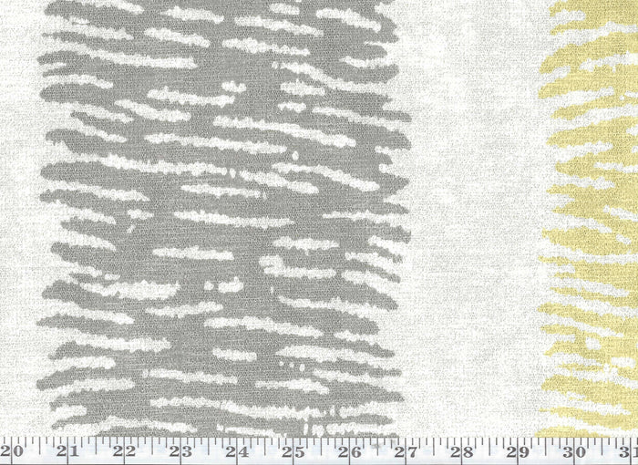 Pal Ambient Stripe CL Gold Dust - Ivory Drapery Upholstery Fabric by P Kaufmann