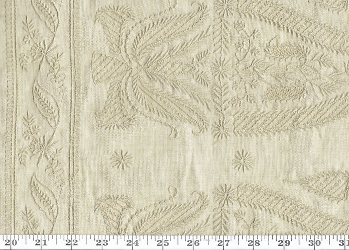 Pampelonne Embroidery CL Dune Drapery Fabric by Ralph Lauren
