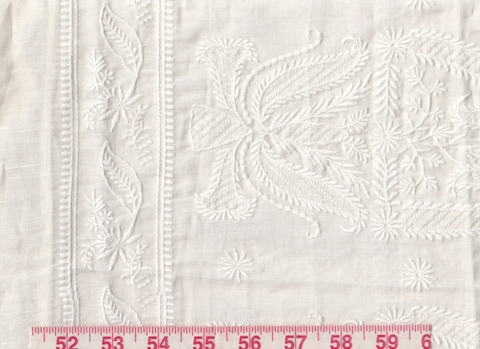 3.5 yds Pampelonne Sheer CL Pearl Embroidered Drapery Fabric by Ralph Lauren Fabrics