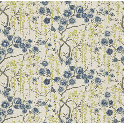 Peonytree CL Ultramarine Drapery Upholstery Fabric by Kravet