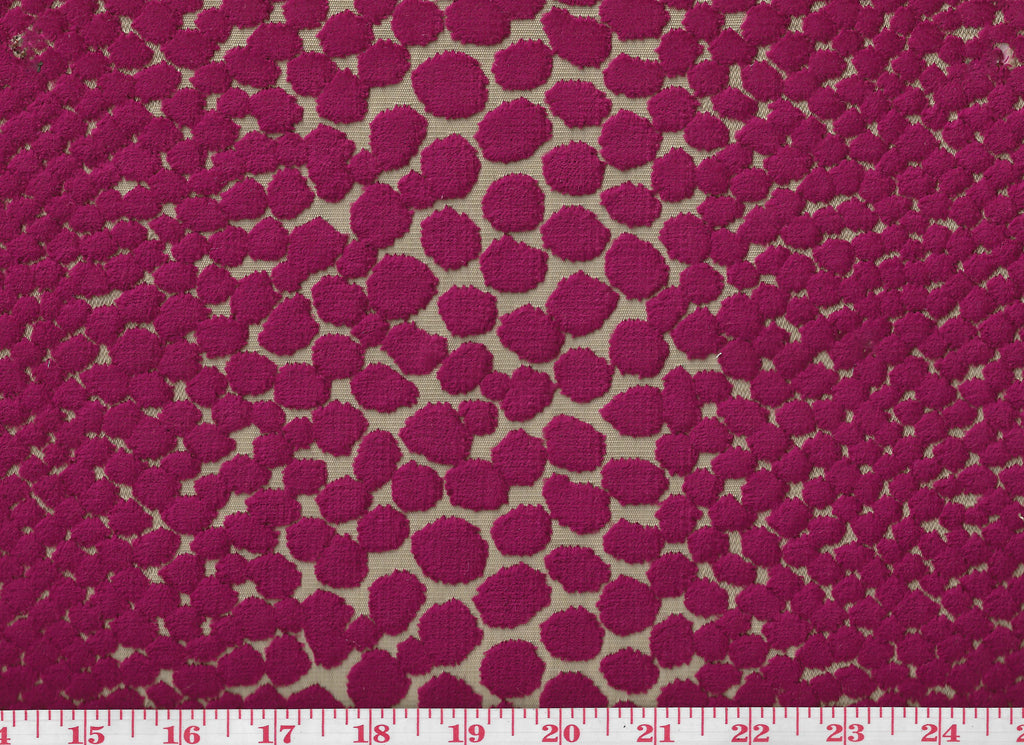 Prowler CL Wineberry Cut Velvet Upholstery Fabric by Braemore Textiles