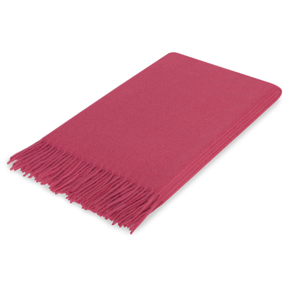 Lusuosso Cashmere Throw CL Berry by Curated Kravet