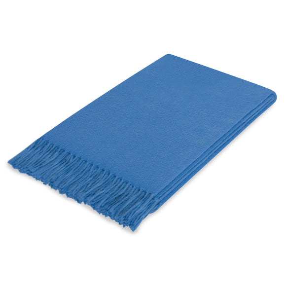 Lusuosso Cashmere Throw CL Cobalt by Curated Kravet