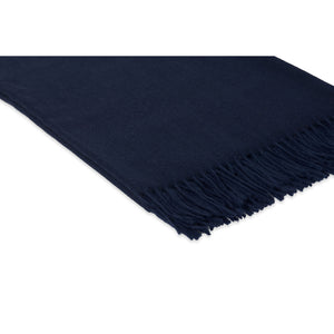 Lusuosso Cashmere Throw CL Navy by Curated Kravet