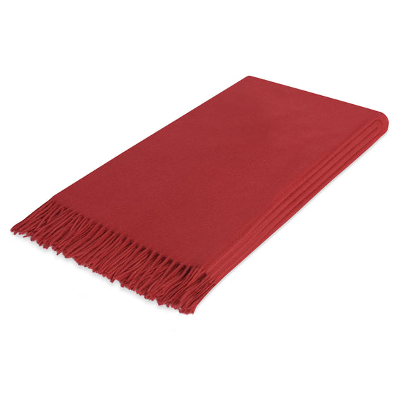 Lusuosso Cashmere Throw CL Red by Curated Kravet