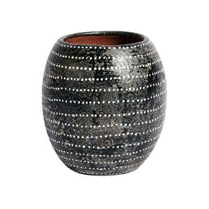 Akin Vase CL Black by Curated Kravet