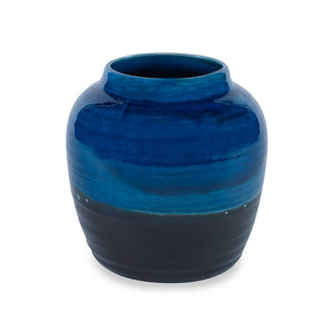 Aries Vase, Small CL Black - Blue by Curated Kravet