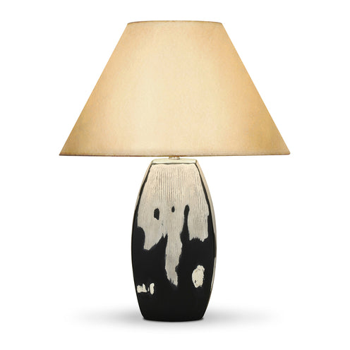 Abigail Table Lamp CL Slvcharcl by Curated Kravet