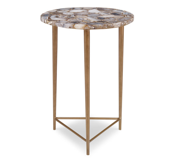 Aurora Side Table CL Natural - Gold by Curated Kravet