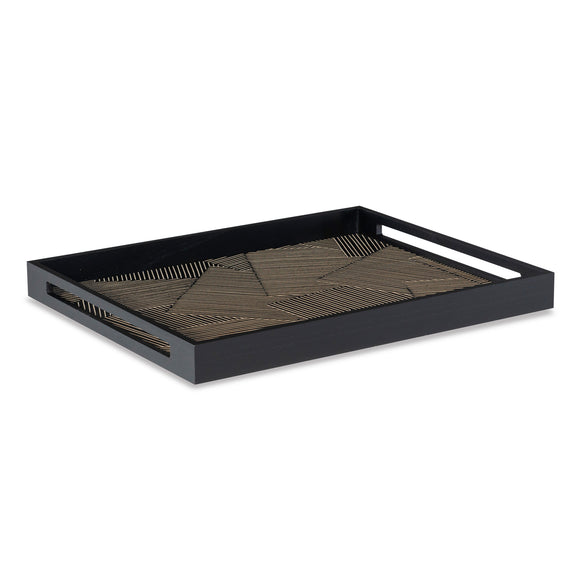 Merlin Tray CL Black by Curated Kravet