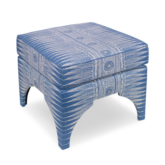 Marcia Ottoman, Indian Zag CL Marine by Curated Kravet