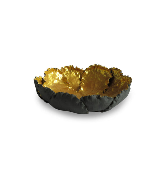 Krabi Bowl, Small CL Gray - Gold by Curated Kravet